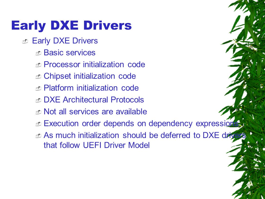 Oem Dxe Initialization Codes