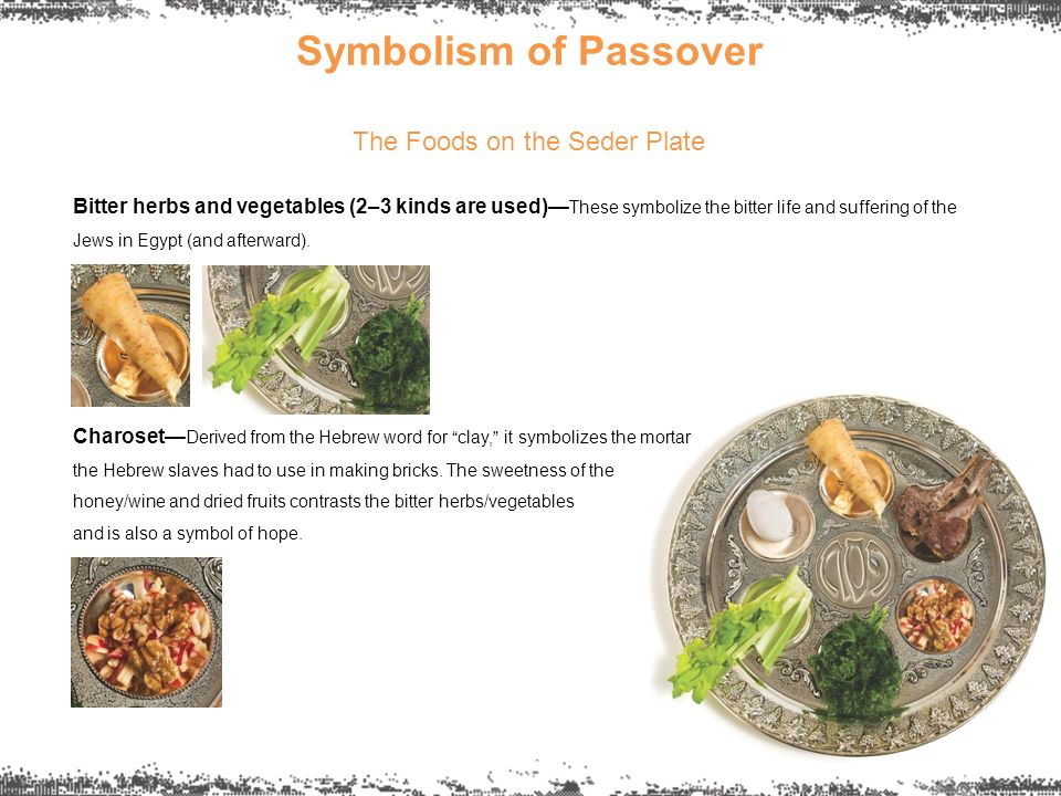 Symbolism Of Passover The Foods On The Seder Plate Bitter Herbs And