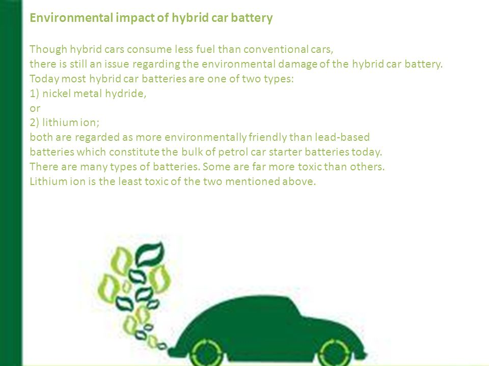 5 Environmental Impact Of Hybrid Car