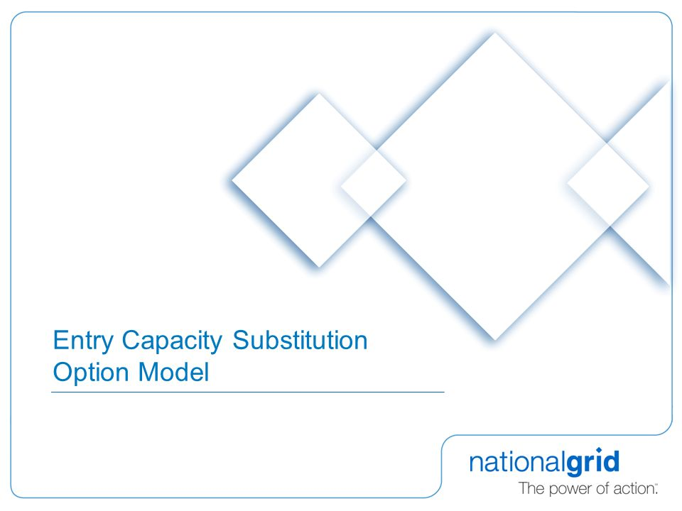 Entry Capacity Substitution Option Model