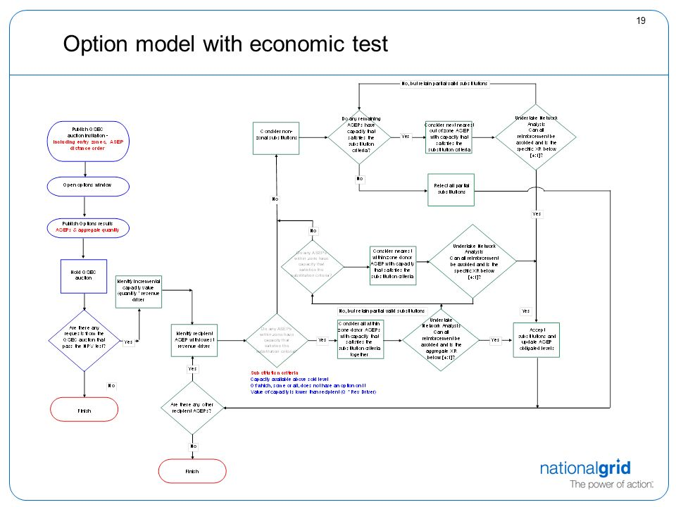 19 Option model with economic test