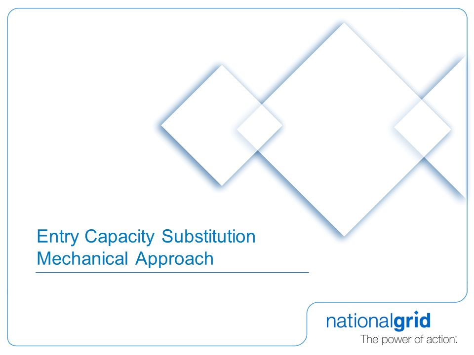 Entry Capacity Substitution Mechanical Approach