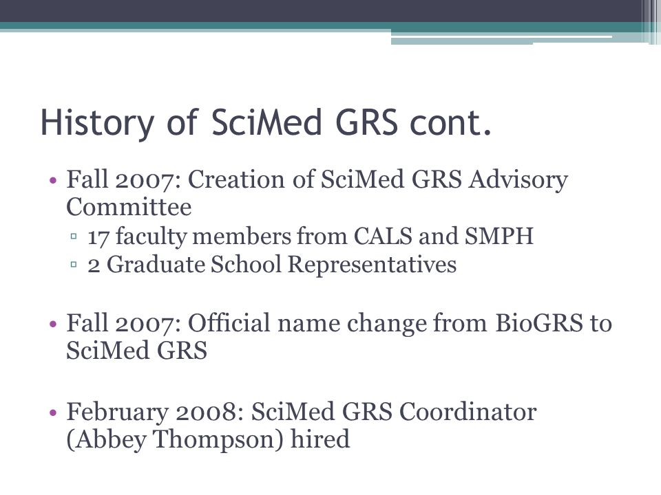 History Of SciMed GRS Cont