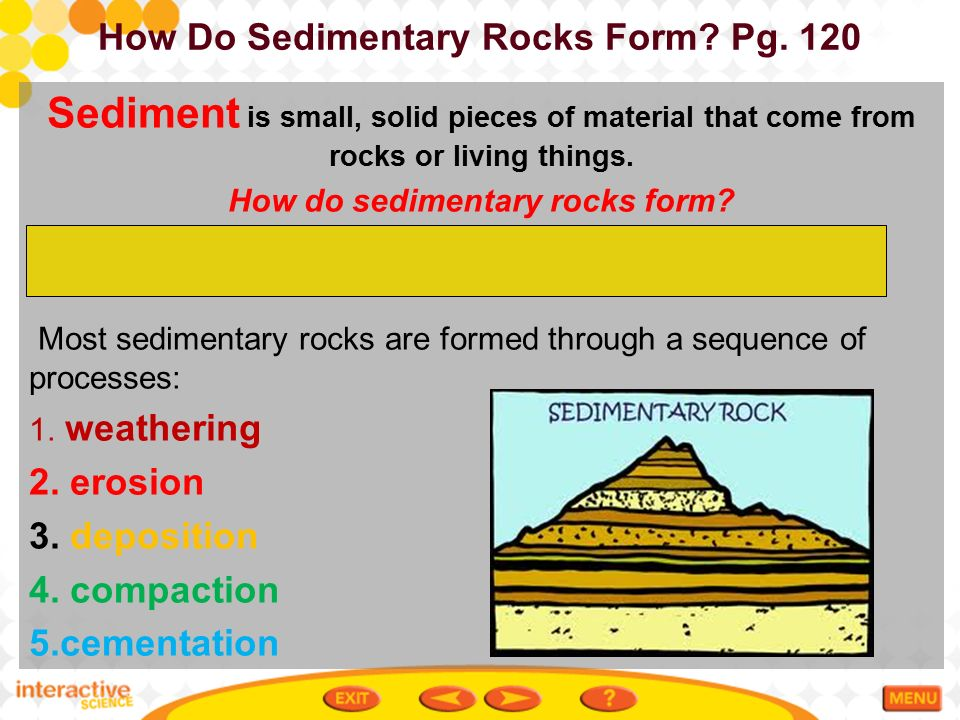 table of contents 3-5 sedimentary rocks ms. de los rios earth's