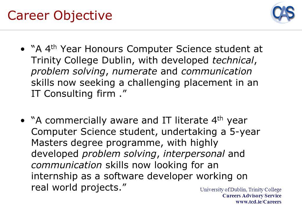 University of Dublin, Trinity College Careers Advisory