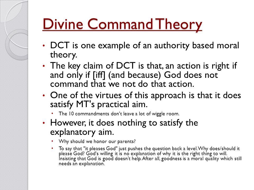 divine command ethics example
