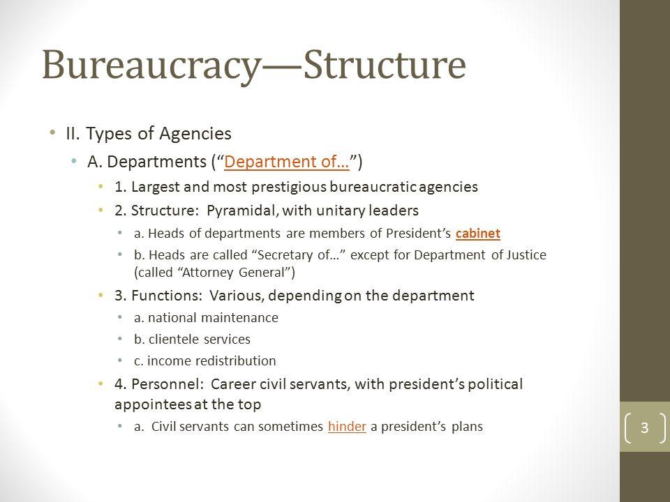 types of bureaucracy
