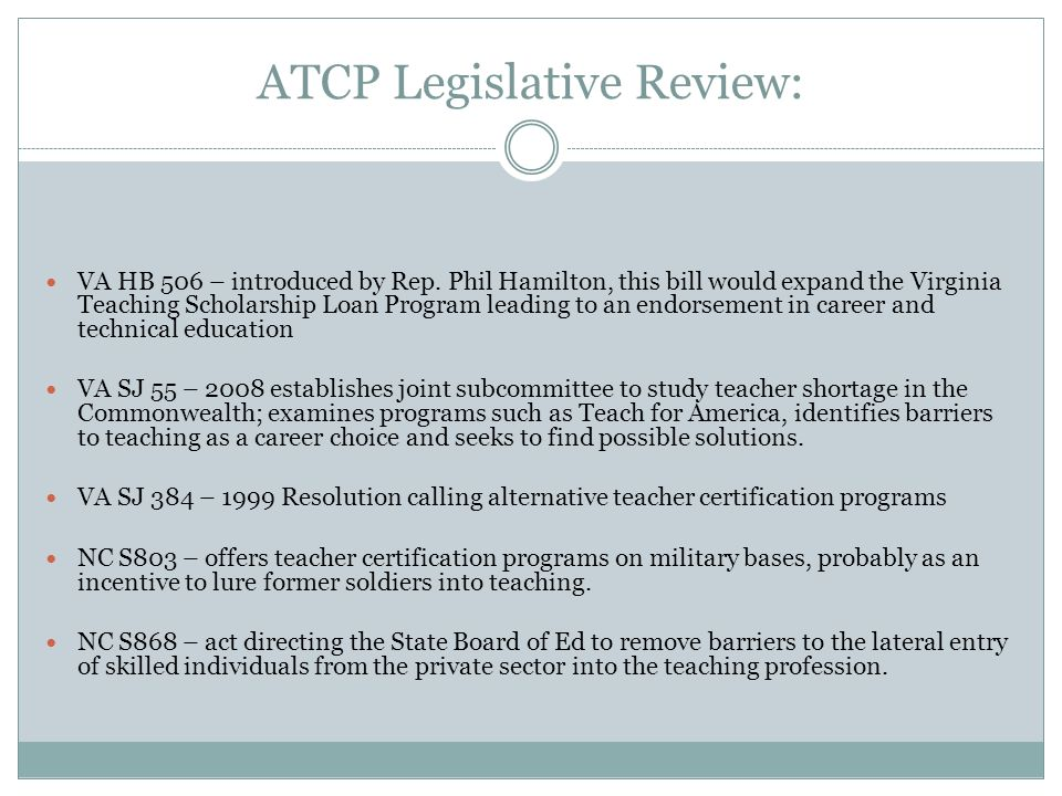 IMPLICATIONS FOR EDUCATIONAL POLICY Alternate Teacher Certification ...
