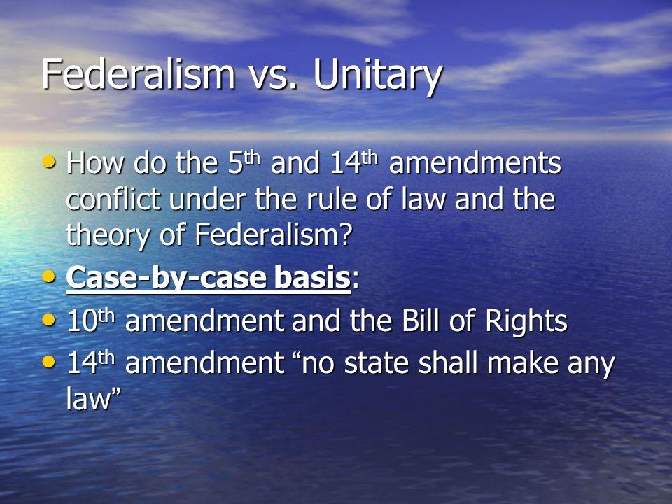 3 Federalism Vs