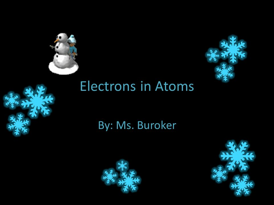 Electrons in Atoms By: Ms. Buroker