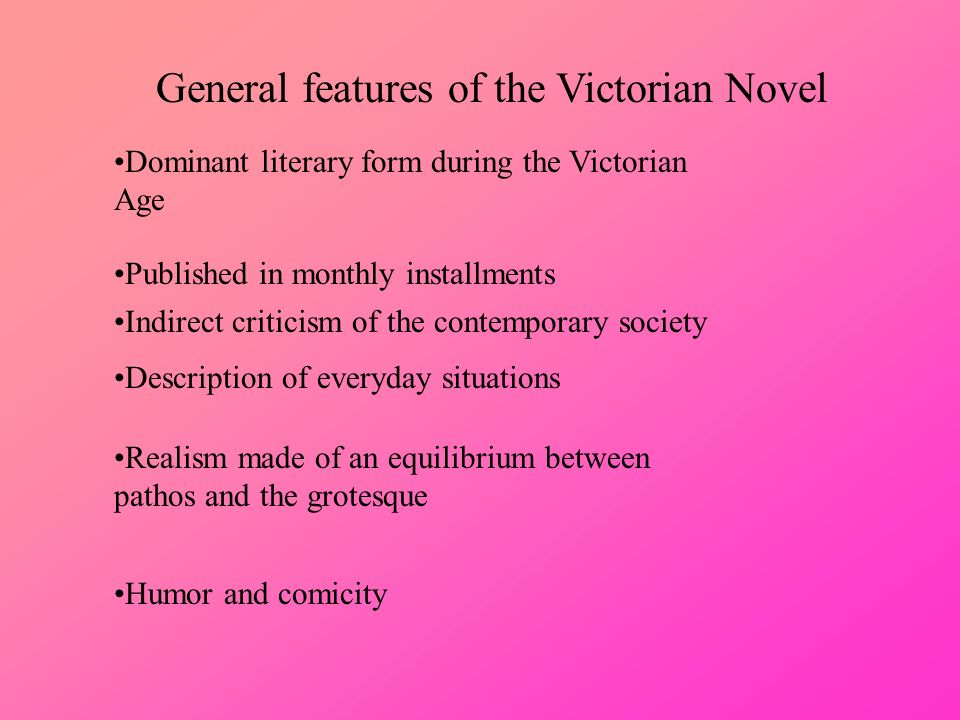 literary features of victorian age