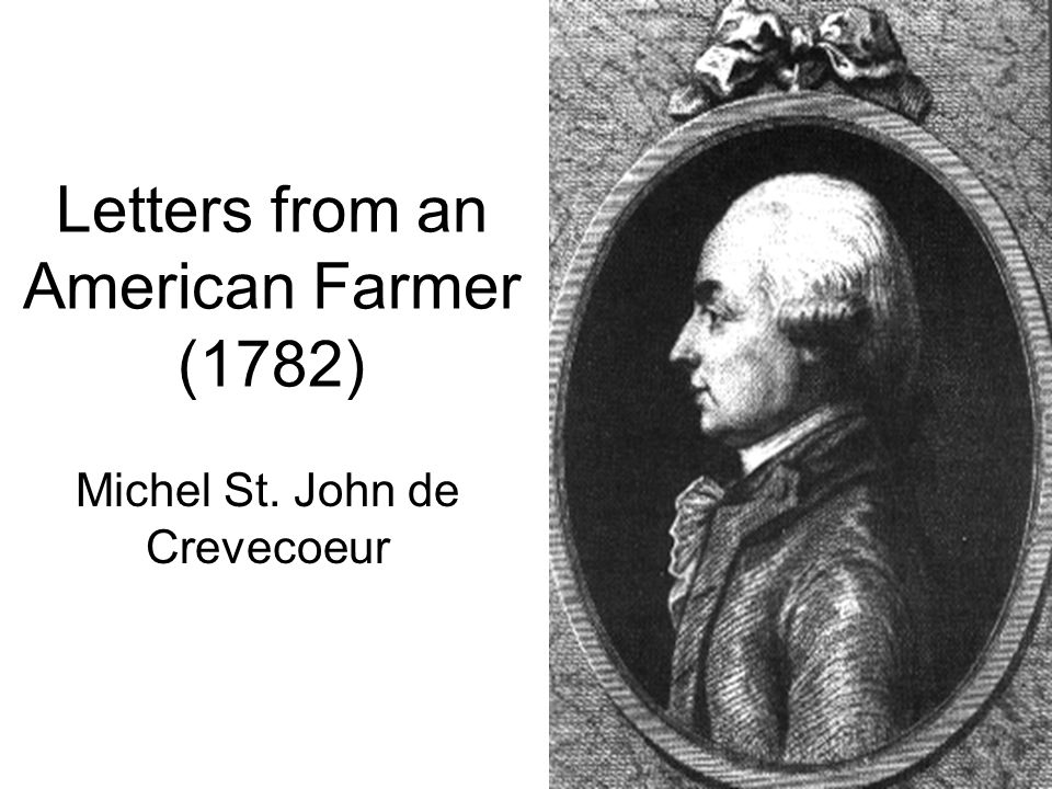 who wrote letters from an american farmer