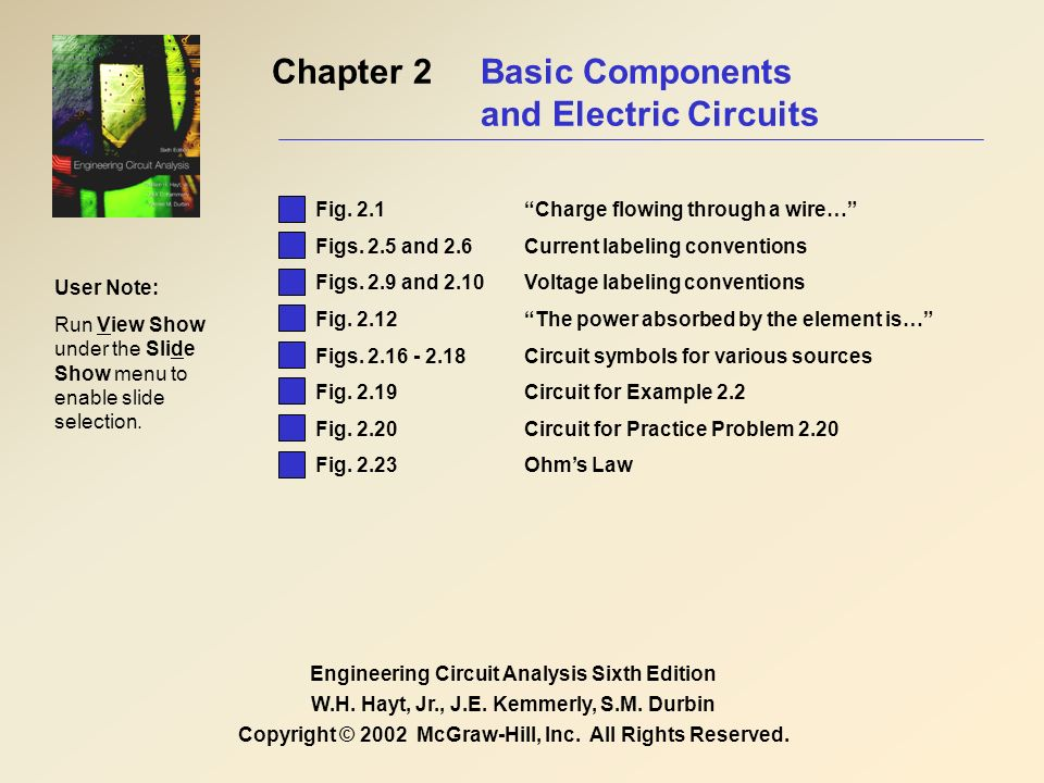 Chapter 2 Basic Components and Electric Circuits Engineering Circuit ...