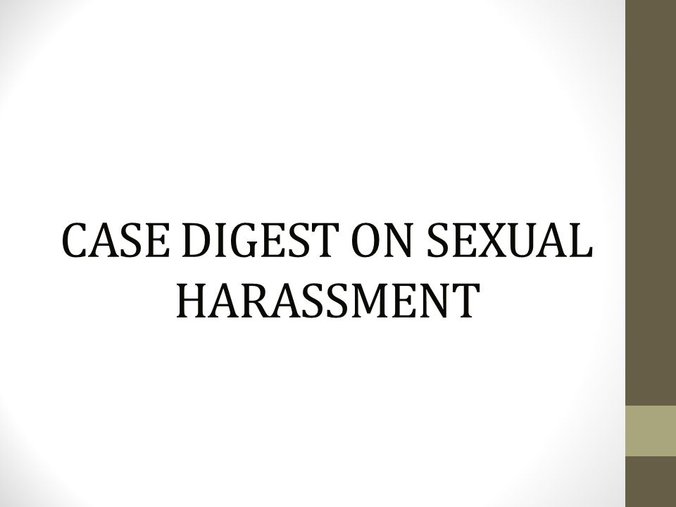 Anti-sexual harassment law ra 7877 lawphil