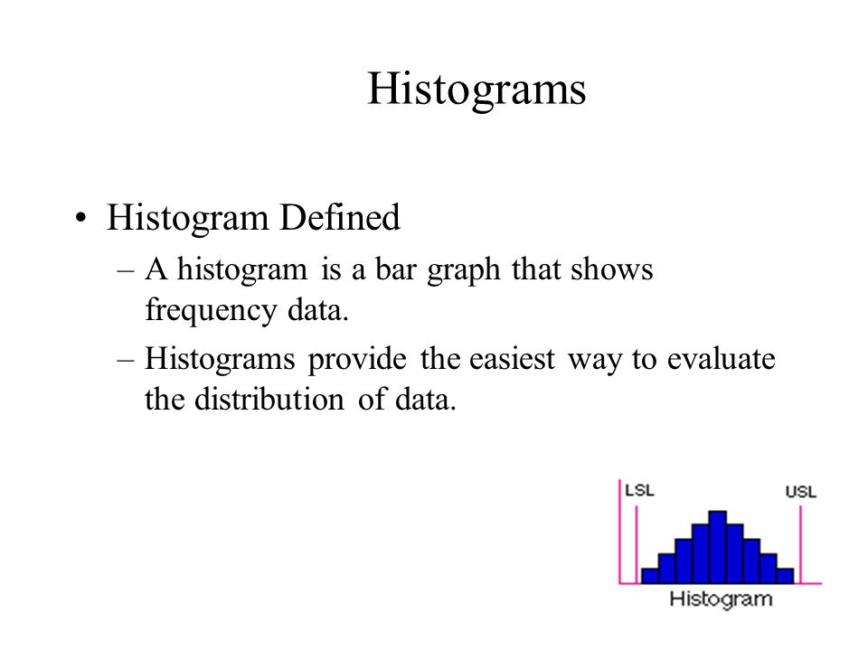 Seven Quality Tools The Seven Tools Histograms Pareto Charts