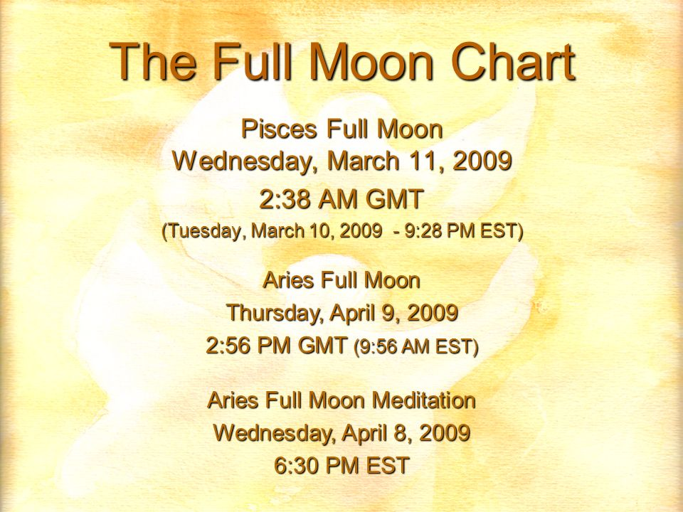 The Full Moon Chart Pisces Full Moon Wednesday March 11 38 AM GMT