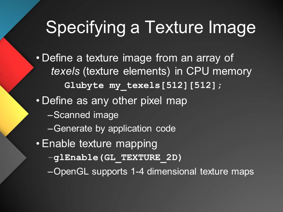 CS 480/680 Computer Graphics OpenGL Texture Mapping Dr