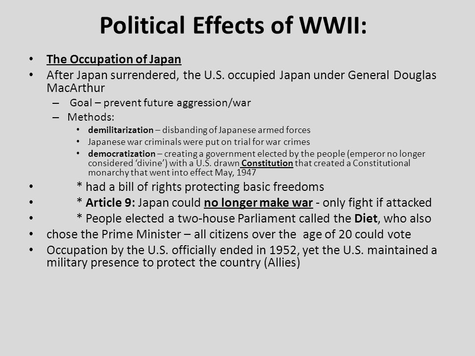 the allied occupation of japan essay The occupation ended following the signing of the san francisco peace treaty (treaty of peace with japan) on september 8, 1951, which officially concluded world war ii in the pacific in europe, both germany and austria were divided into four occupation zones under american, british, french, and soviet control.