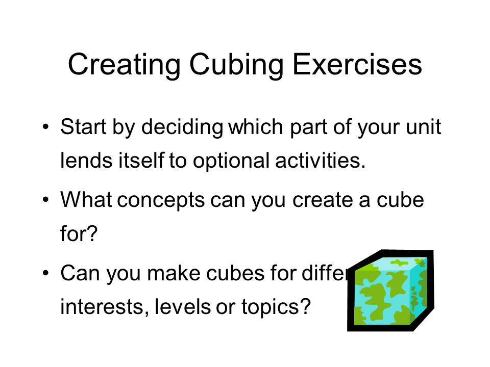 Cubing Is A Great Way To Differentiate Instruction Based On Student