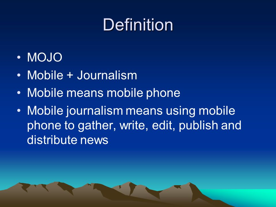 what is the definition of mojo