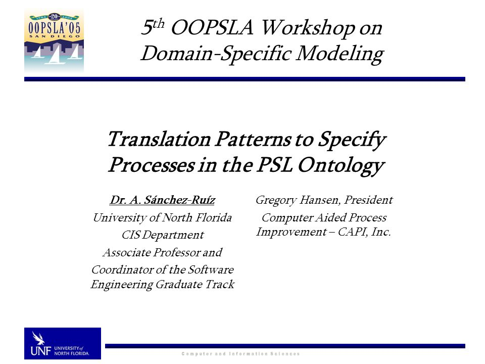Translation Patterns to Specify Processes in the PSL