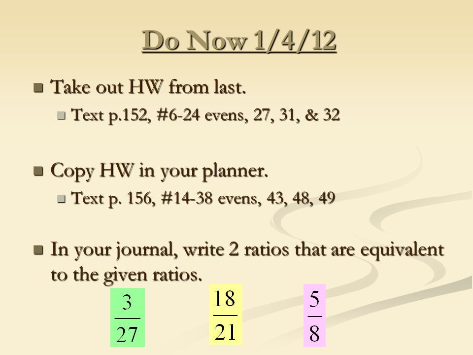 do now 1 4 12 take out hw from last take out hw from last text p