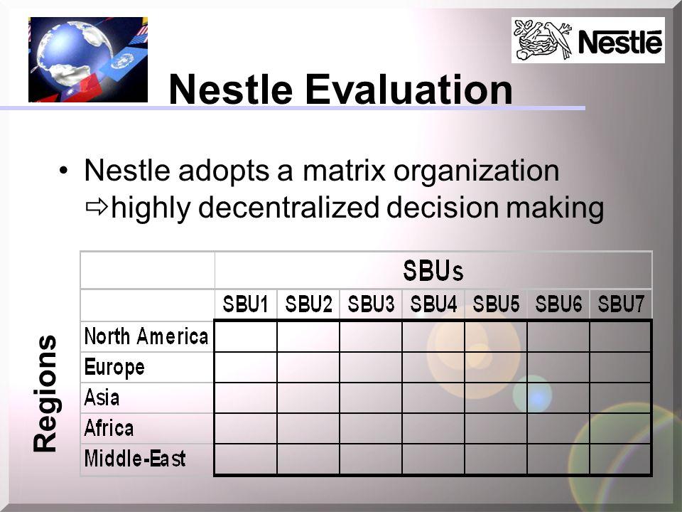 sbu of nestle