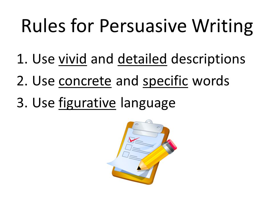 words to use in persuasive writing