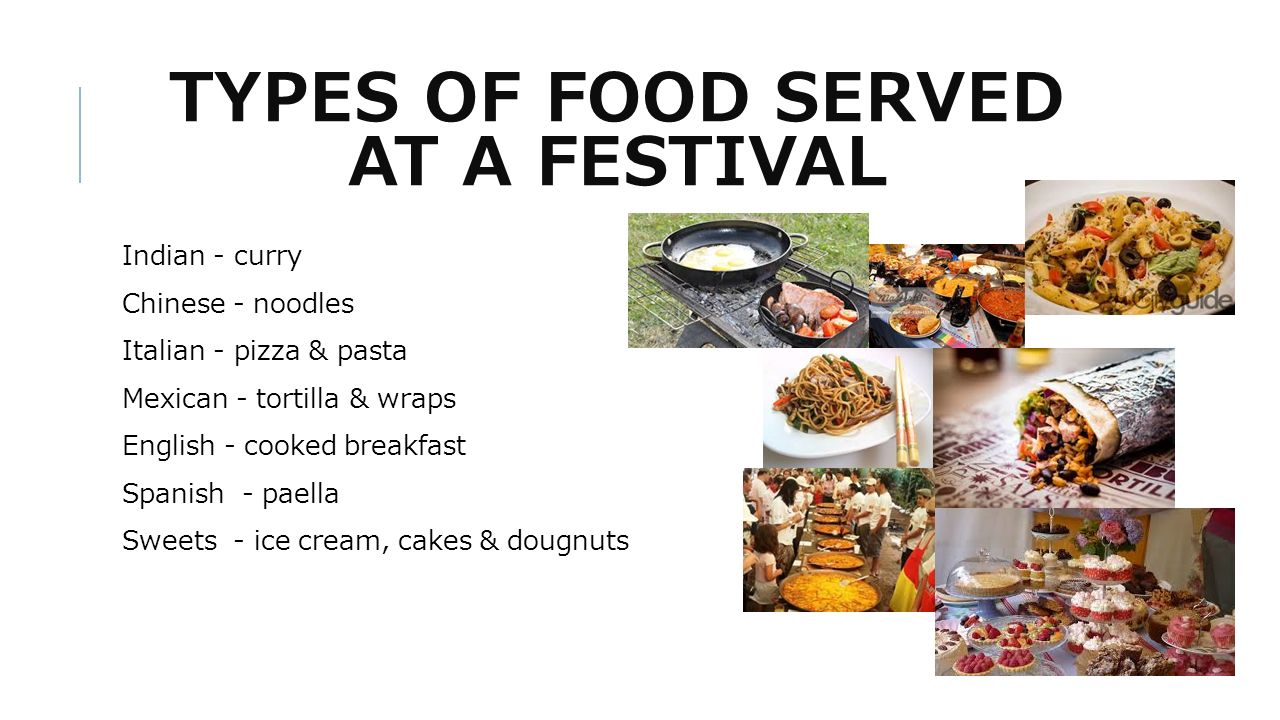 3 TYPES OF FOOD SERVED AT A FESTIVAL Indian