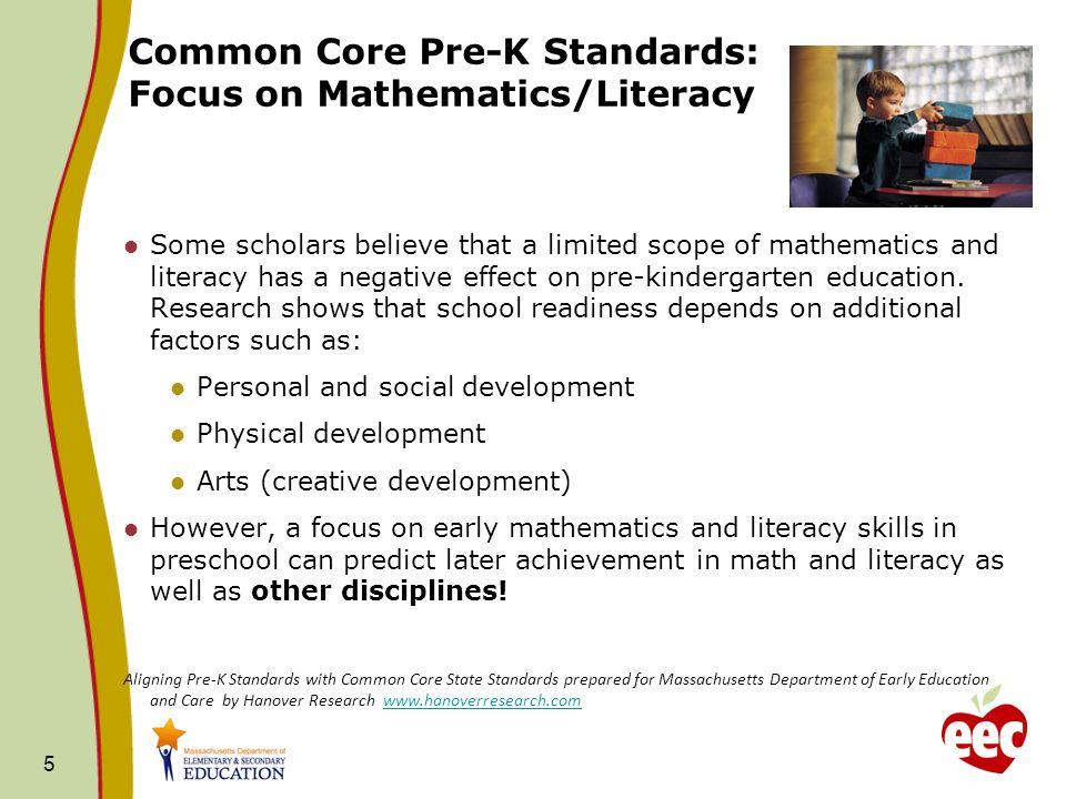 1 Core Pre K Standards Review Comment Common Core Pre K
