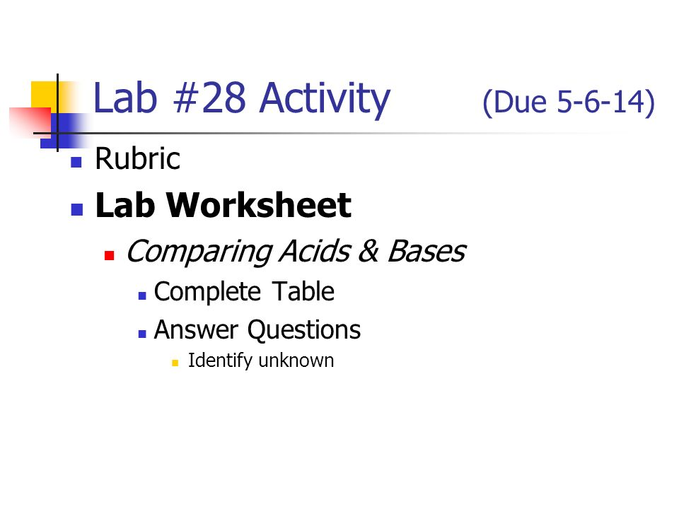 Lab 30 Activity Due Rubric Worksheet Redox Reaction Plete. 3 Lab 28 Activity Due 5614 Rubric Worksheet Paring Acids Bases Plete Table Answer Questions Identify Unknown. Worksheet. Worksheet Redox Reactions Answers At Clickcart.co