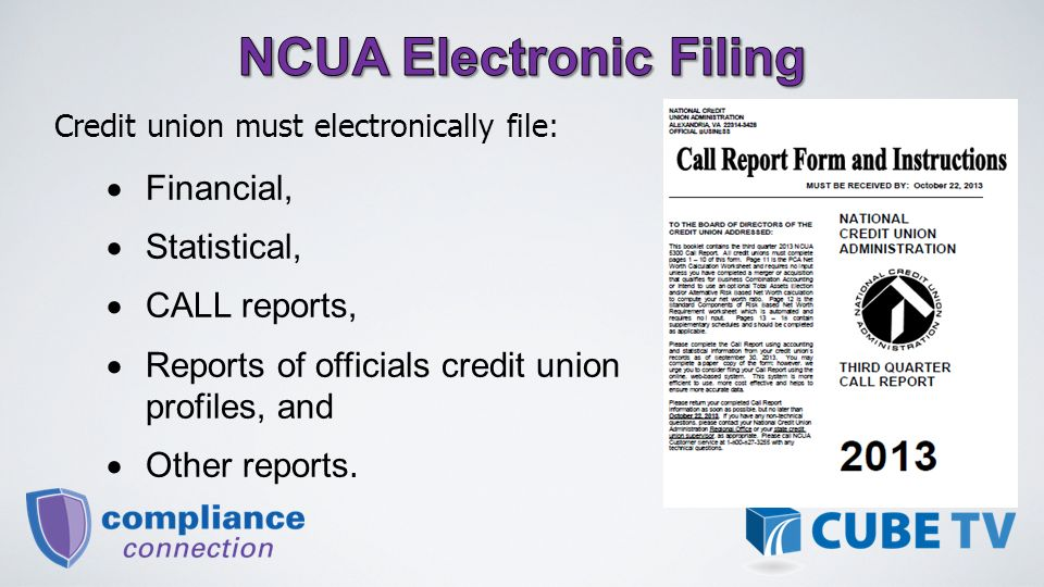 Credit Union Electronic Filing Will Reduce The Expenses Of