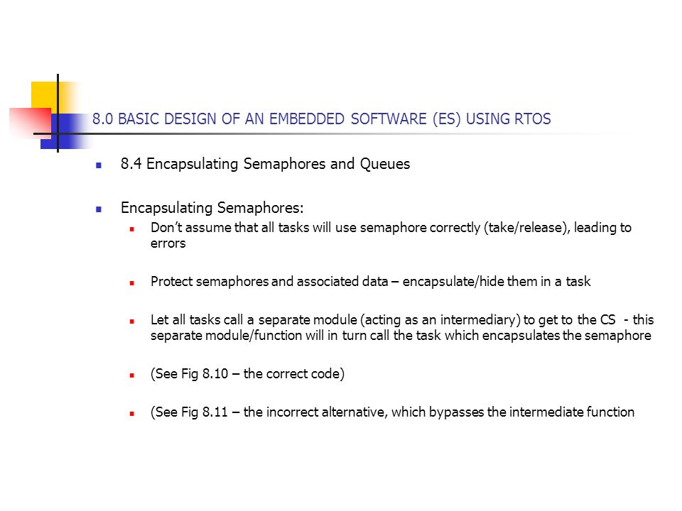 8 0 BASIC DESIGN OF AN EMBEDDED SOFTWARE (ES) USING RTOS 8 0