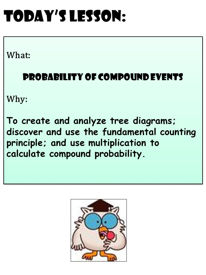 Todays lesson what probability of compound events why to create todays lesson what probability of compound events why to create and analyze tree ccuart Gallery