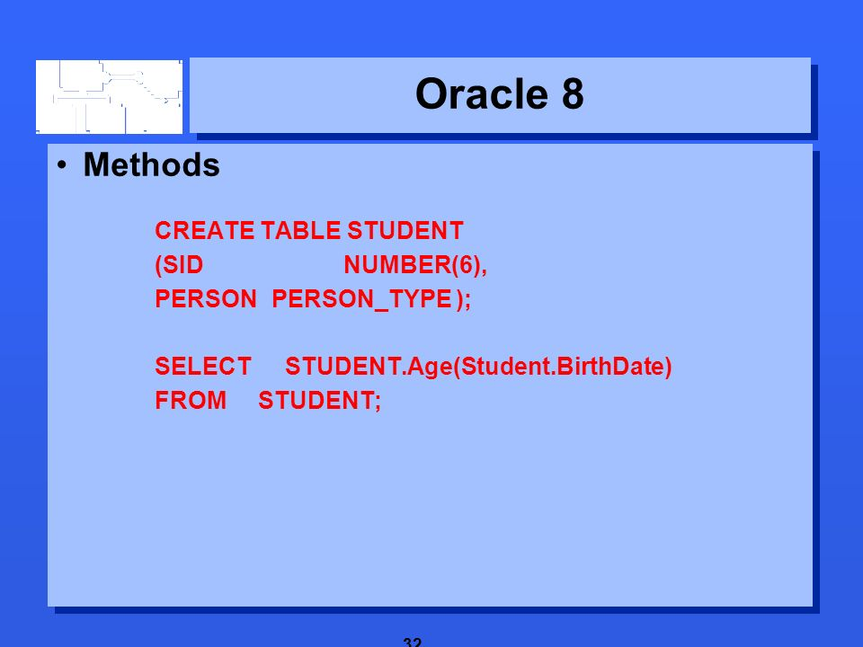 1 Oracle 8  2 New features 3 Oracle 8 New features  Abstract data