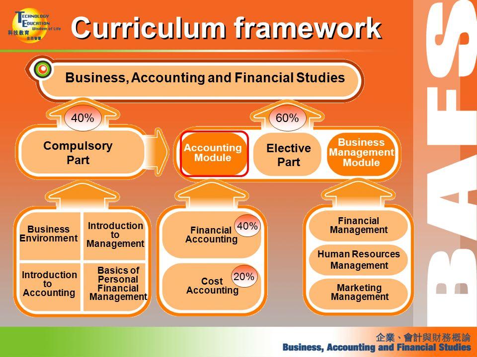 Curriculum Framework Principles Of Accounts Business