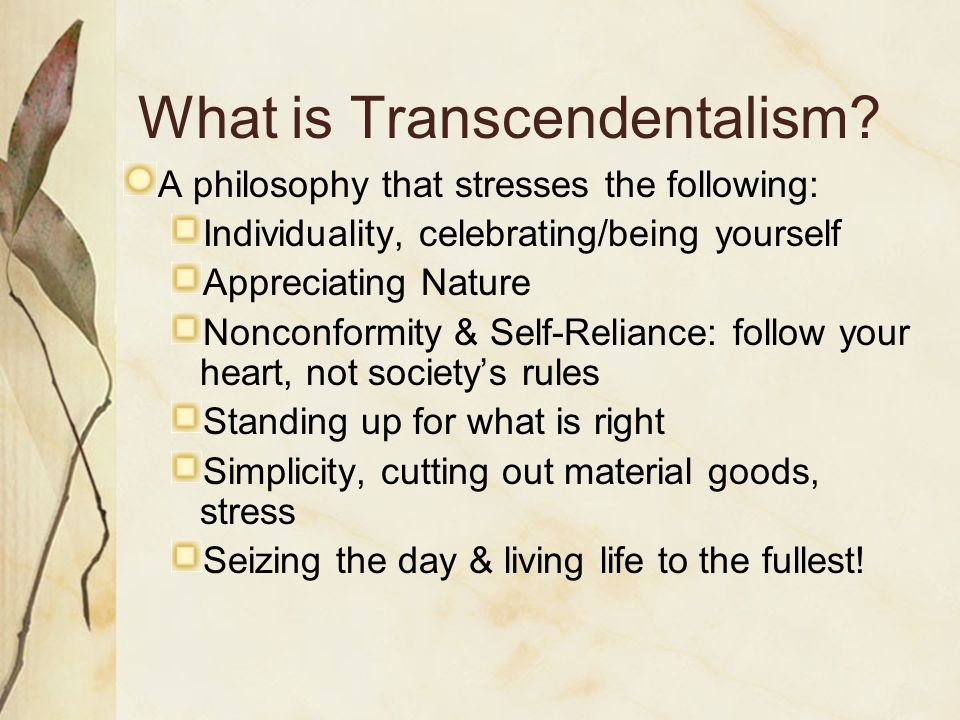 the transcendentalist henry david thoreau quizlet