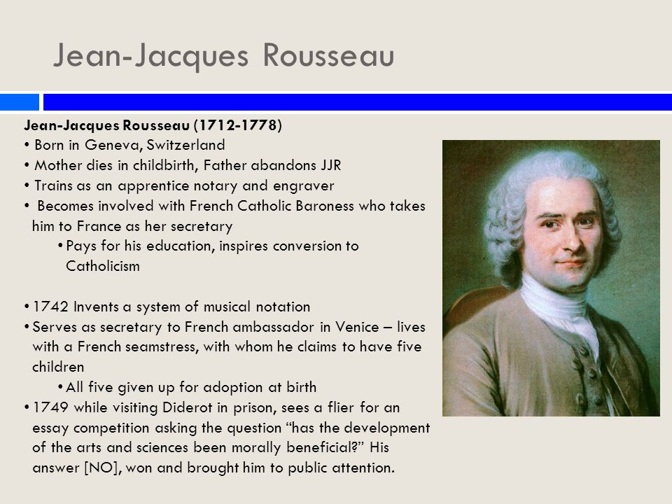 Modest Proposal Essay Ideas  Jeanjacques  Healthy Diet Essay also Research Essay Proposal Template Jeanjacques Rousseau  Emile Unit   Day  Jeanjacques Rousseau  Genetically Modified Food Essay Thesis