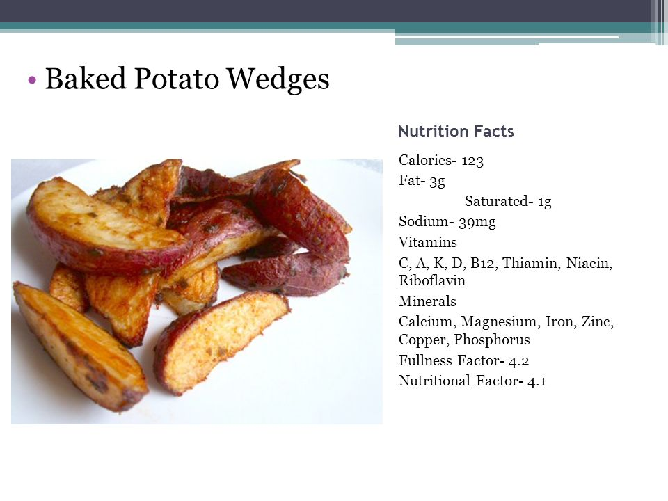 recipe: calories in potato wedges baked [33]
