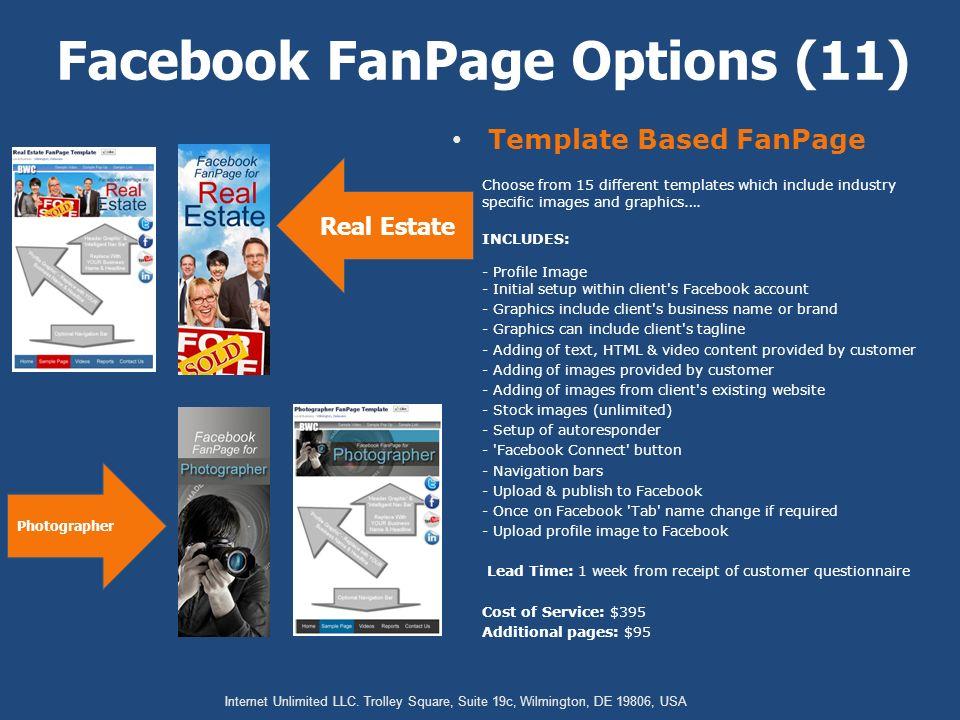 Starter Facebook FanPage Facebook FanPage Options (1