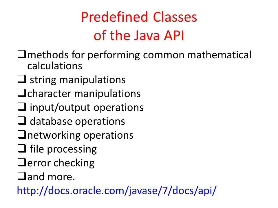 Methods in Java  Program Modules in Java  Java programs