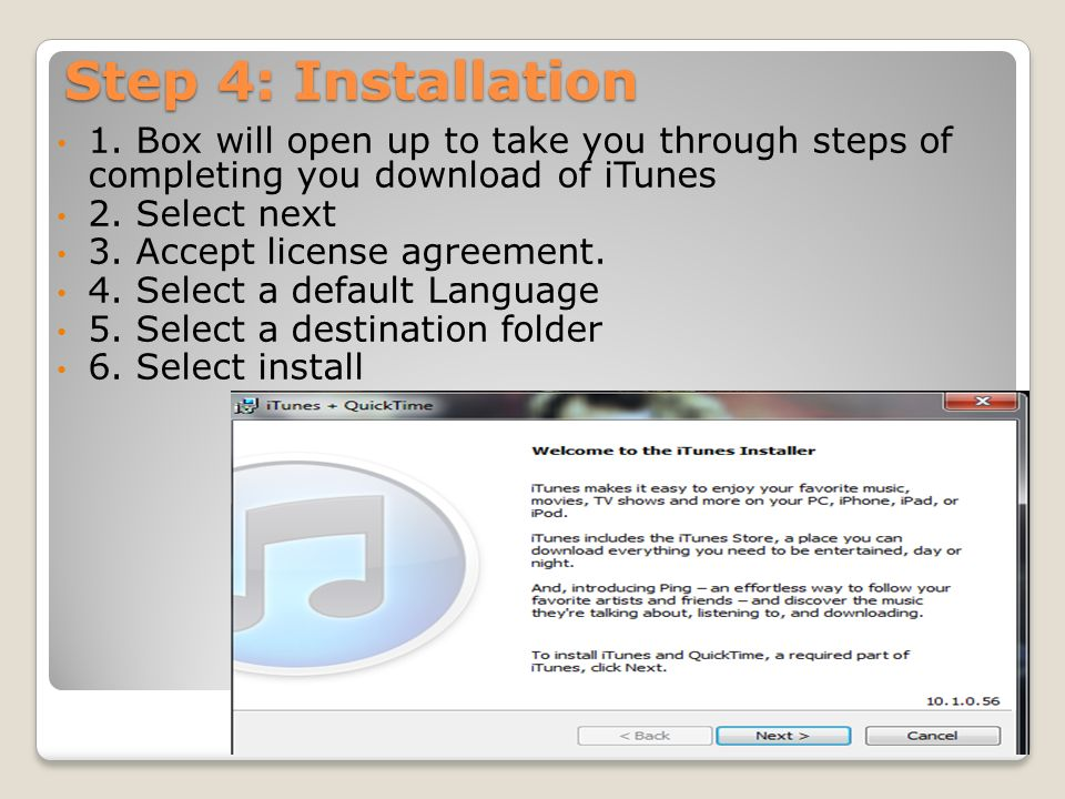 ITunes Process Manual How to Download & Install iTunes