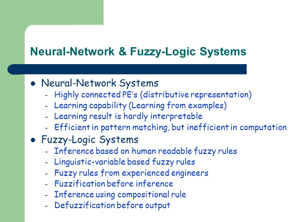 Neural-Network-Based Fuzzy Logical Control and Decision System 主講
