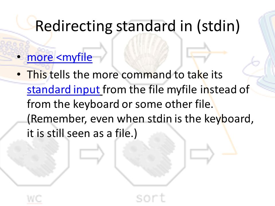 Pipes and Redirection in Linux ASFA Programming III C. Yarbrough ...