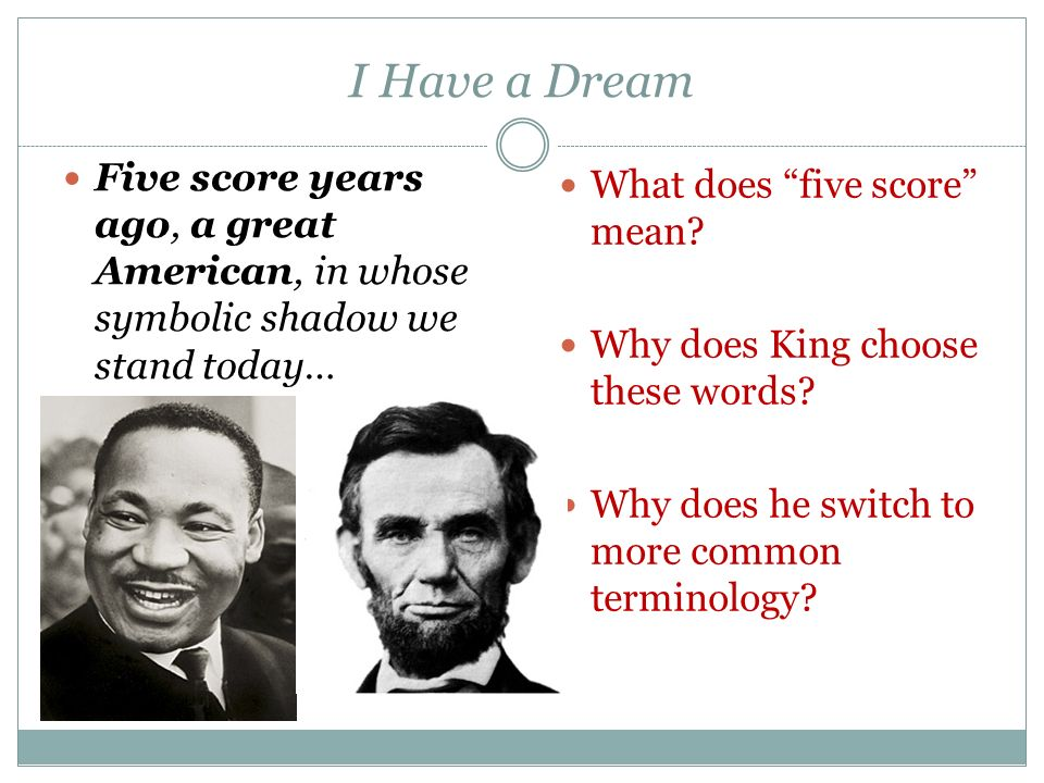 What Do You See What Do You Hear I Have A Dream Martin Luther