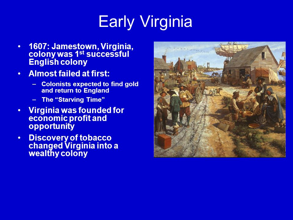 a history of the english colony virginia in america Just outside north carolina's outer banks is roanoke island, the scene of one of the greatest unsolved mysteries in us history: the disappearance of an entire colony of english settlers.