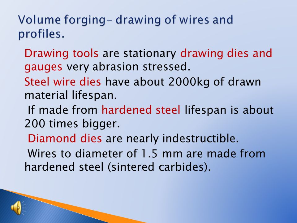 Tutorial Engineering Technology Topic Volume Forging Drawing Of