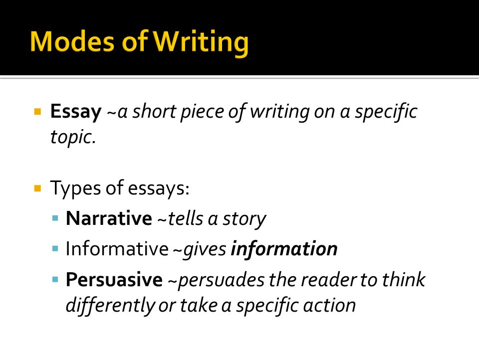 specific types of essay