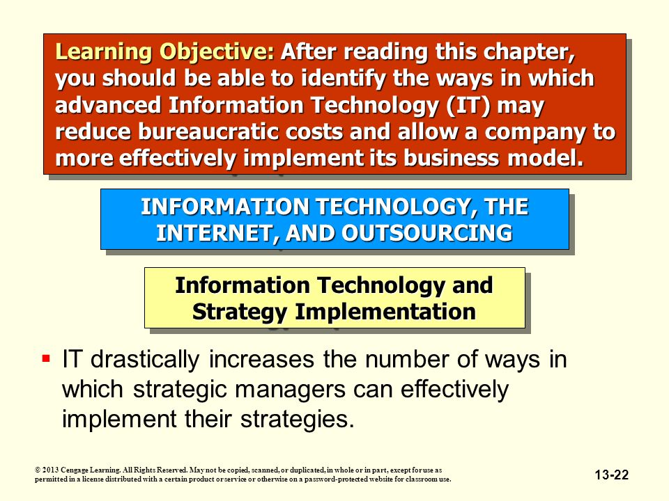 role of information technology in strategy implementation