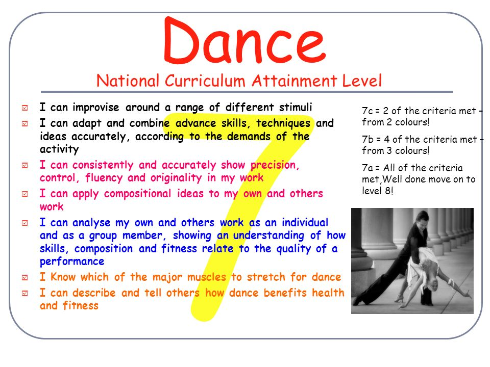 3 Dance  I can develop my work using simple ideas (e g